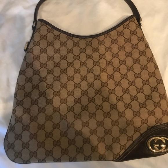 9c431c19ae17 Gucci Bags | Britt Gg Canvas Hobo Bag | Poshmark